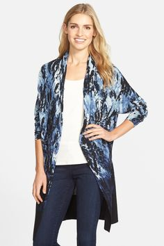 'Blue Lagoon' Open Front Cardigan by NIC+ZOE on @nordstrom_rack