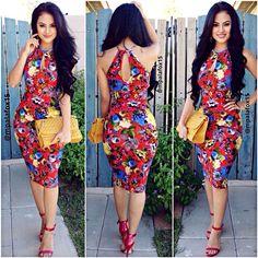 Summer Outfit flores vestido