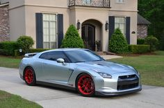 Bryan's 1300awhp 4.1L Alpha 12-powered GT-R on Forgeline one piece forged monoblock GA1R Open Lug Cap Edition wheels with a 20x10/18x11 drag setup finished in Transparent Red. See more at: http://www.forgeline.com/customer_gallery_view.php?cvk=1334  #Forgeline #GA1R #OpenLug #notjustanotherprettywheel #madeinUSA #Nissan #GTR