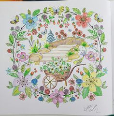 Joyous Blooms To Color Colorido Por Mim Lelescristiane