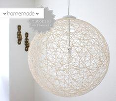 DIY #2 : L'abat-jour boule en laine - Blog de blog-DIY - Skyrock.com