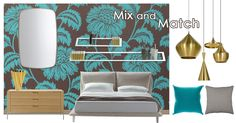 Design ideas for a bedroom in fusion style. Mix and match different flavours, colours and materials.