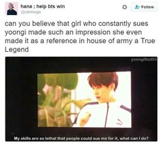 The Army that wants to sue Suga