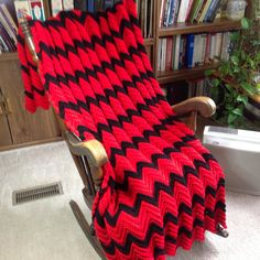 A personal favorite from my Etsy shop https://www.etsy.com/listing/520698699/red-black-chevron-pattern