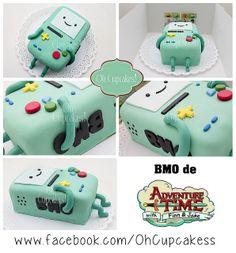 #Torta #BMO (personaje de #HoradeAventuras).  Seguinos en www.facebook.com/ohcupcakess