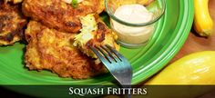 Squash Fritters Recipe ~ when you have tons o' squash :-) **UPDATE: Made this recipe tonight & it turned out SO good! And the left-over fritters are just as good :-) Southern Cooking Recipes, Squash Fritters, Holiday Side Dishes, Dinner Recipes, Yummy Recipes, Appetizers, Yummy Food, Stuffed Peppers, Meals