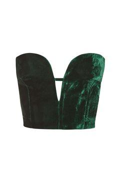 Velvet Plunge Bralet - Tops - Clothing - Topshop