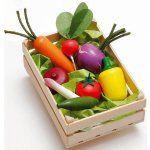BabyNaturopathics.com - Erzi Assorted Vegetables Crate Wooden Pretend Food - Baby Naturopathics Inc.