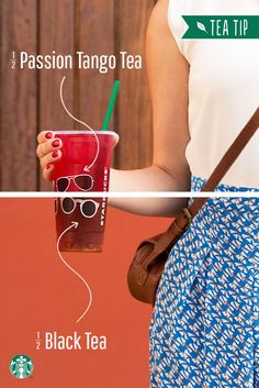 Customize your Teavana Shaken Iced Passion Tango Tea with this Tea Tip: ask your Starbucks barista to make it with half Black Tea and half Passion Tango for just the right touch of tropical flavor.