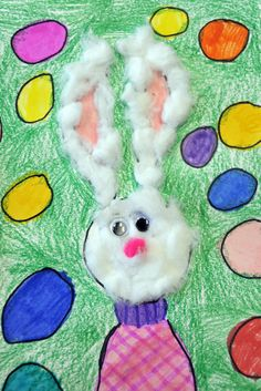 easter art. I love the mixed mediums. No tutorial though