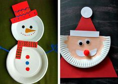 easy manual activity kids deco nol cardboard plates # DIY, house, mat … – Famous Last Words Christmas Paper Plates, Christmas Crafts, Christmas Decorations, Easy Crafts, Diy And Crafts, Crafts For Kids, Craft Videos, Diy Gifts, Activities For Kids