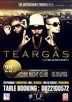29 March - MTV Base is taking over the KZN! We rocked The Cube lastnight & we're doing it again! Catch TEARGAS performing live tonight at The Cube! We Rock, 29 March, Mtv, Cube, Events, Cool Stuff, Movies, Movie Posters, Films