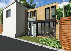 Small house architecture project House Architecture, Home Fashion, Garage Doors, Mansions, Studio, House Styles, Outdoor Decor, Projects, Design