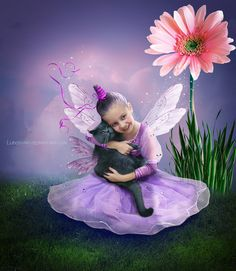 fairy with a flying cat by Lubov2001 on DeviantArt