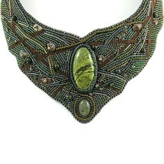 Tauriel bead embroidery elven forest necklace in by Taurielscraft, $589.00
