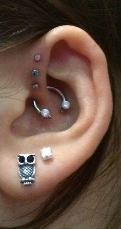 New piercings. :)