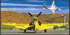 Aviation Art Bob Hoover Shrike