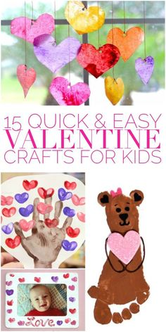 Looking for quick and easy valentine crafts for kids? Most of these crafts can be done in just a few minutes, and they're so cute! day crafts for boys 15 Quick & Easy Valentine Crafts for Kids - Glue Sticks and Gumdrops Funny Valentine, Toddler Valentine Crafts, Valentines Day Activities, Valentines Day Party, Valentines For Kids, Baby Crafts, Toddler Crafts, Kids Crafts, Printable Valentine