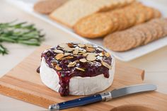 Raspberry Baked Goat Brie with Rosemary... The perfect elegant Easter appetizer!