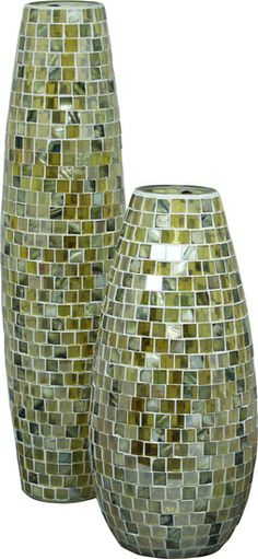 Do you have an awkward corner that could use a special touch? The Millenium Mosaic Vases from Urban Barn