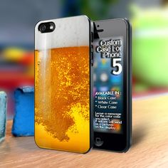 Beer bubble glass Iphone5 case