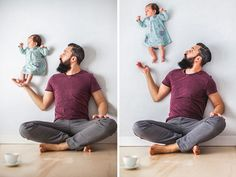 Funny Photos Of Dad Playing With His Newborn Daugter (No Photoshop) | Bored Panda