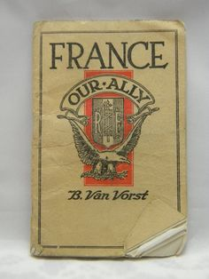 Vintage France Our Ally WWI pamphlet militaria by NicksonGarageFinds on Etsy