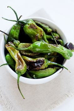 sauteed shishito peppers + farm fresh to you - Heather's French Press