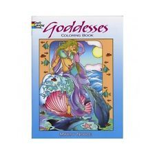 Adult Coloring Book Goddesses Designs Stress Relief Doodle Creative Relaxing
