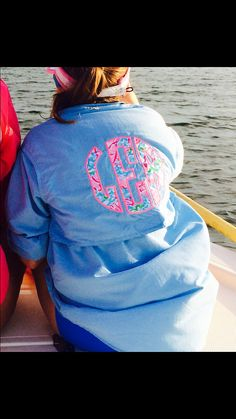 We love our new Magellan fishing shirt! Monogramed Lilly Pulitzer fabric of choice! This item is GREAT for a bathing suit cover-up, as you can