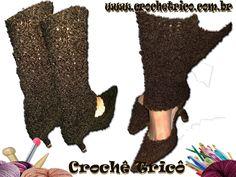 Crochê Tricô: Polainas Peluche em Tricô