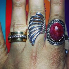 Aneis tamanho 21 em prata 925. #prata925  #prata #moda  #tendência  #jewerly #aneisdeprata