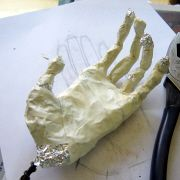 Paper Mache Hand Armature - trace their hands, form it into a bowlish shape