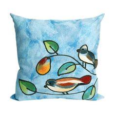 Song Birds Decorative Pillow