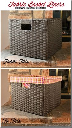 DIY Fabric Basket Liners by @cspangenberg | Find fabric from @joannstores