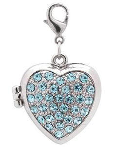 Personal heart wedding photo holder. Embellished with blue crystal stones. Perfect for your something blue. Can attach to your bouquet of flowers.