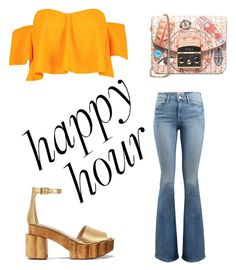 """Happy Hour"" by vasilica-cor on Polyvore featuring moda, Frame, Furla, Boohoo e Tory Burch"