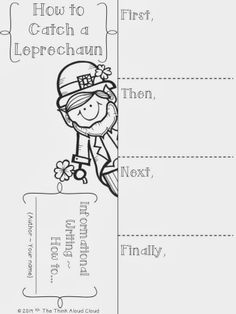 How to catch a leprechaun...and then write about it! Freebie.