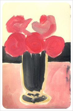 Tuesday Blooms paintings by Leanne Shapton