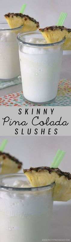 These skinny virgin pina colada slushes are amazing! A totally guilt free and refreshing summer drink!