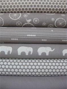 BUMPER/SHEET/SKIRT 5-Piece Custom Baby Bedding: Crib Bumper, Fitted Crib Sheet, and Crib Skirt in mod basics birch organic grey. $350.00, via Etsy.  LOVE!!