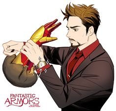 """juvenile-reactor: """" fantastic armors and where to find them """"Oh there it is… no no no not my watch!"""" """""""