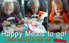 Eat in the car without a mess. Pack meals in EasyLunchboxes