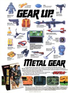 Metal Gear NES Poster - Back when Comics came with cool ads.