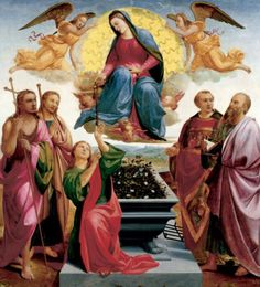 """""""Assumption of the Virgin"""" by Francesco Granacci. c1515, oil on panel. In the collection of The Ringling Museum of Art, Sarasota, FL."""