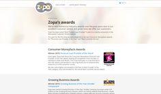 Zopa showing their #CMFAwards winning logo online - http://www.zopa.com/awards