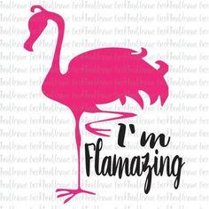 Flamazing Flamingo Summer SVG Cut file Silhouette Cricut