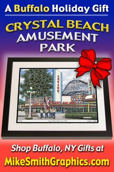Highly detailed drawing featuring the Crystal Beach Amusement Park in Ontario, Canada by Western NY artist Michael Smith. Shop for unique artwork in a variety of subjects at MikeSmithGraphics.com. Amusement Park, Limited Edition Prints, Ontario, Holiday Gifts, Wall Art Prints, Buffalo, Canada, Crystal, Ink