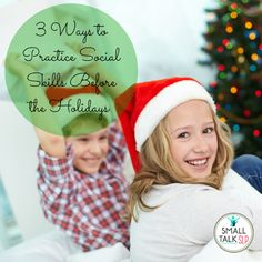 Chit Chat and Small Talk: 3 Ways to Practice Social Skills Before the Holidays. Pinned by SOS Inc. Resources. Follow all our boards at pinterest.com/sostherapy/ for therapy resources.