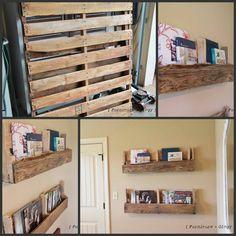 DYI Pallet Board Shelves Tutorial